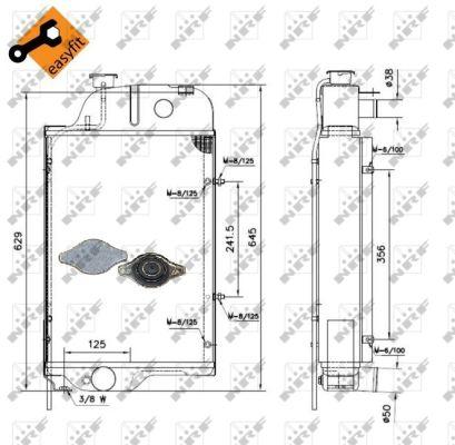 Radiateur de refroidissement NRF 52138 (X1)