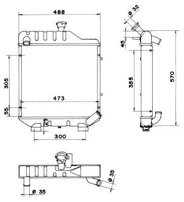 Radiateur de refroidissement NRF 52176 (X1)