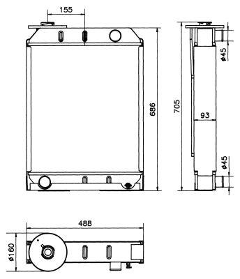 Radiateur de refroidissement NRF 52188 (X1)