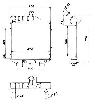Radiateur de refroidissement NRF 52198 (X1)