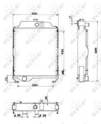 Radiateur de refroidissement NRF 52200 (X1)