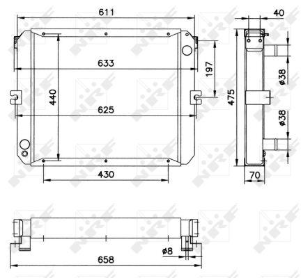 Radiateur de refroidissement NRF 52202 (X1)