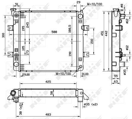 Radiateur de refroidissement NRF 52241 (X1)