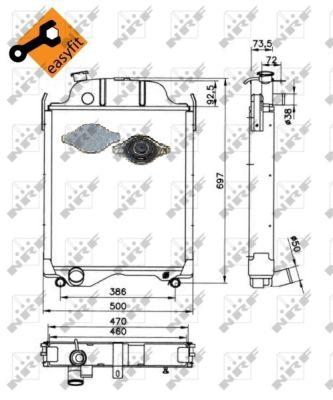 Radiateur de refroidissement NRF 52253 (X1)