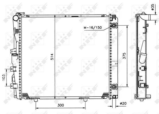 Radiateur de refroidissement NRF 526573 (X1)