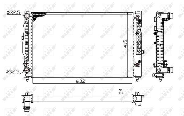 Radiateur de refroidissement NRF 529504A (X1)