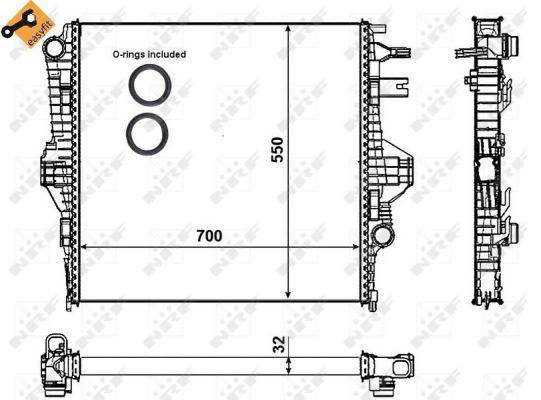 Radiateur de refroidissement NRF 53005 (X1)