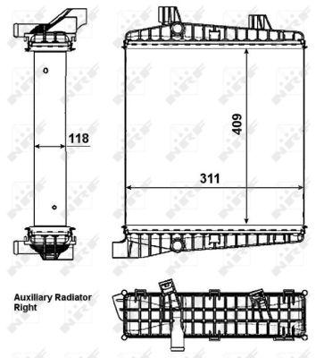 Radiateur de refroidissement NRF 53007 (X1)