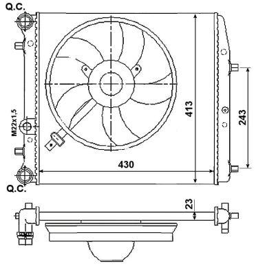 Radiateur de refroidissement NRF 53021 (X1)