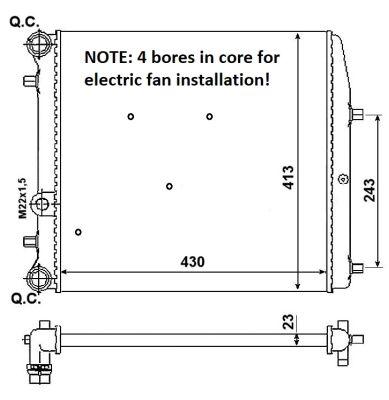 Radiateur de refroidissement NRF 53021A (X1)