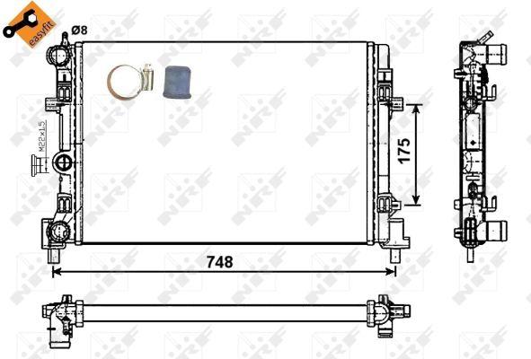 Radiateur de refroidissement NRF 53024 (X1)