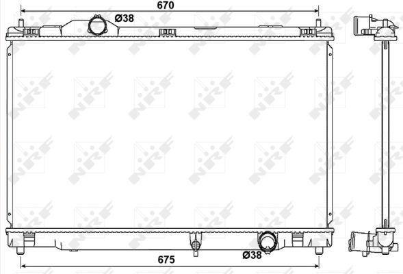 Radiateur de refroidissement NRF 53039 (X1)