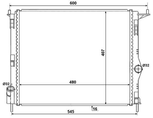 Radiateur de refroidissement NRF 53069 (X1)