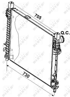 Radiateur de refroidissement NRF 53080 (X1)