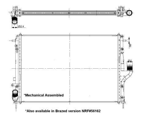 Radiateur de refroidissement NRF 53092 (X1)