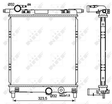 Radiateur de refroidissement NRF 53101 (X1)