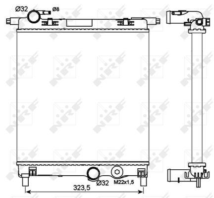 Radiateur de refroidissement NRF 53102 (X1)