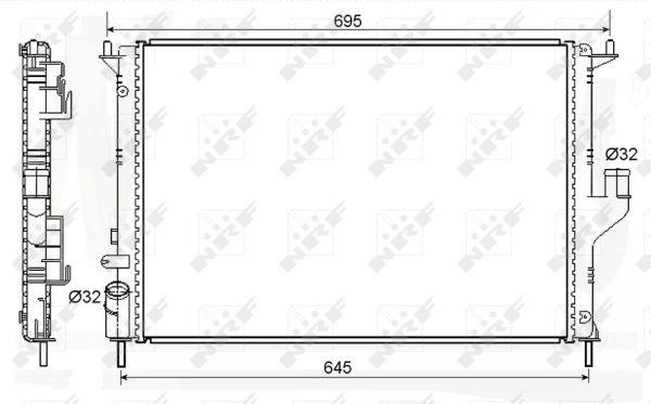 Radiateur de refroidissement NRF 53118 (X1)