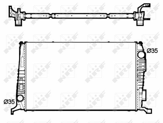 Radiateur de refroidissement NRF 53138 (X1)