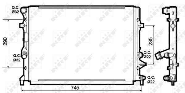 Radiateur de refroidissement NRF 53139 (X1)