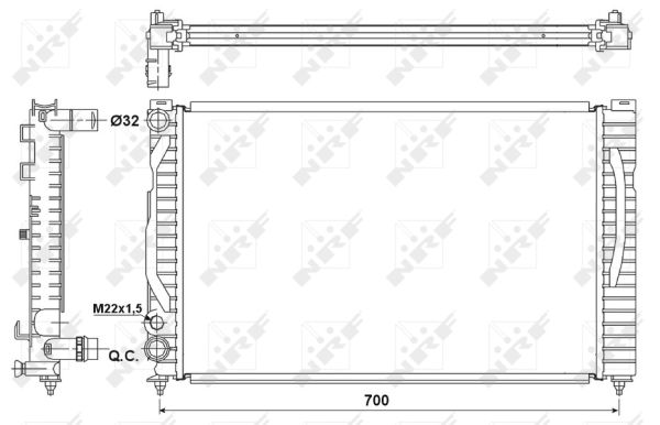 Radiateur de refroidissement NRF 53175 (X1)
