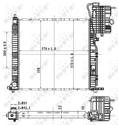 Radiateur de refroidissement NRF 53177 (X1)