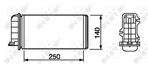 Radiateur de chauffage NRF 53219 (X1)