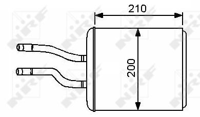 Radiateur de chauffage NRF 53244 (X1)