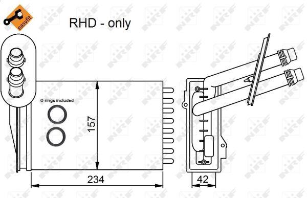 Radiateur de chauffage NRF 53402 (X1)