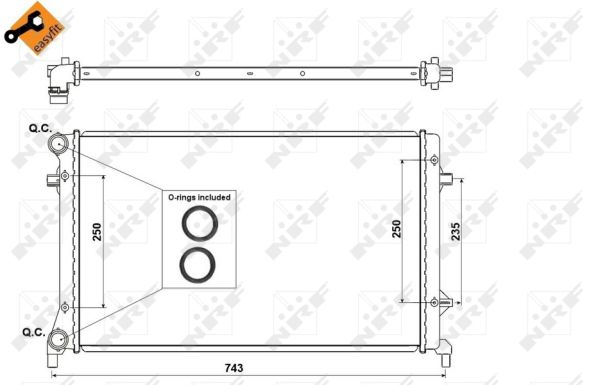 Radiateur de refroidissement NRF 53404 (X1)