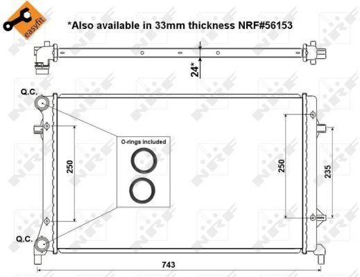 Radiateur de refroidissement NRF 53405 (X1)