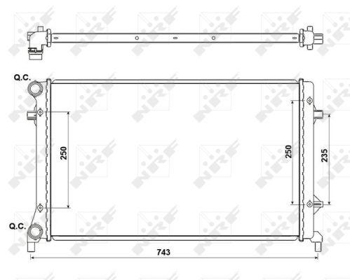 Radiateur de refroidissement NRF 53405A (X1)