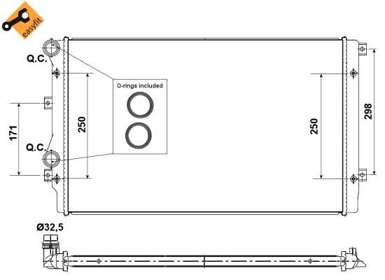 Radiateur de refroidissement NRF 53406 (X1)