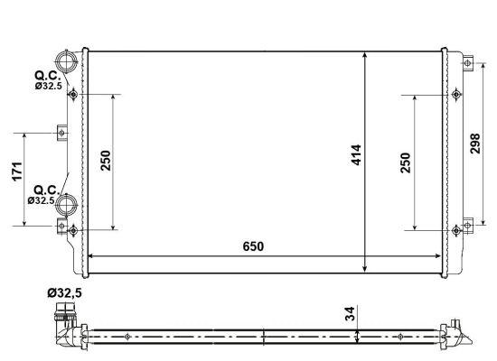 Radiateur de refroidissement NRF 53406A (X1)