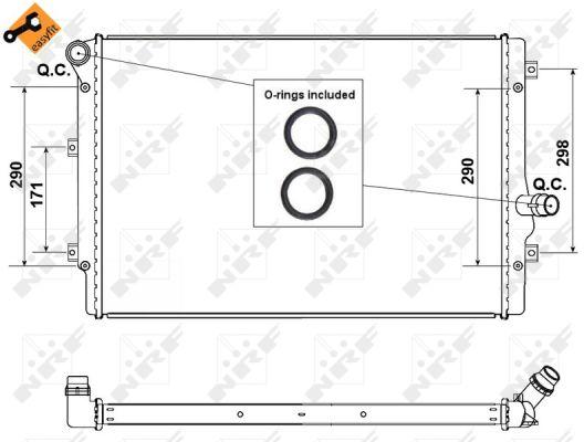 Radiateur de refroidissement NRF 53425 (X1)