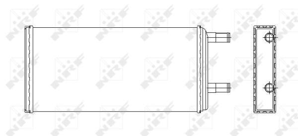 Radiateur de chauffage NRF 53547 (X1)
