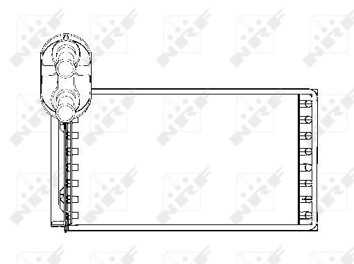 Radiateur de chauffage NRF 53550 (X1)