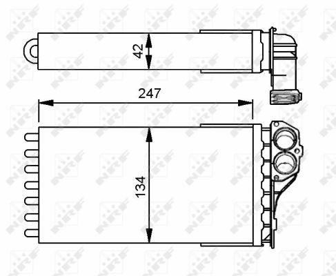 Radiateur de chauffage NRF 53557 (X1)