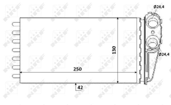 Radiateur de chauffage NRF 53560 (X1)