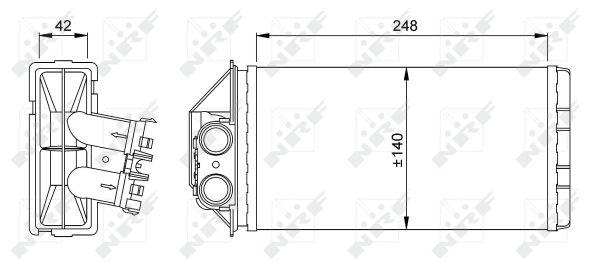 Radiateur de chauffage NRF 53561 (X1)