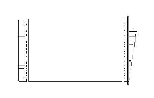 Radiateur de chauffage NRF 53564 (X1)