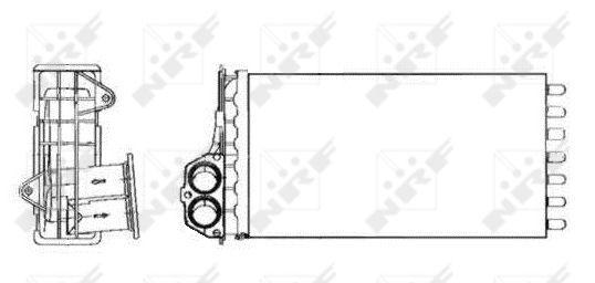 Radiateur de chauffage NRF 53634 (X1)