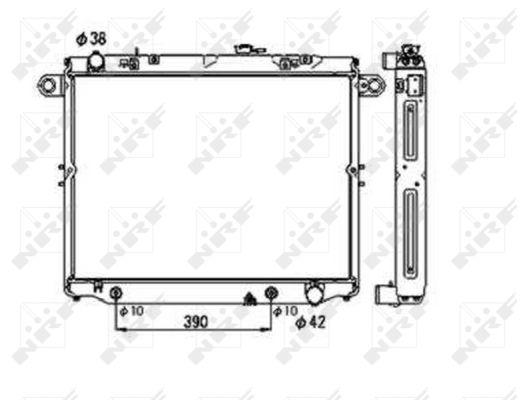 Radiateur de refroidissement NRF 53706 (X1)