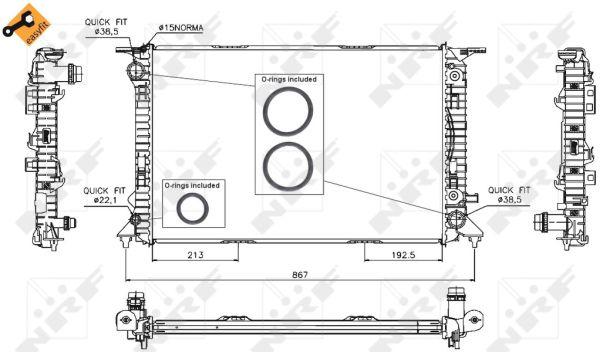 Radiateur de refroidissement NRF 53719 (X1)