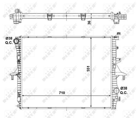 Radiateur de refroidissement NRF 53798 (X1)