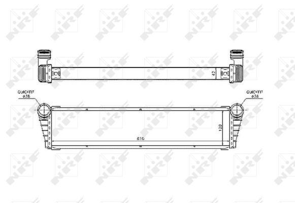 Radiateur de refroidissement NRF 53799 (X1)