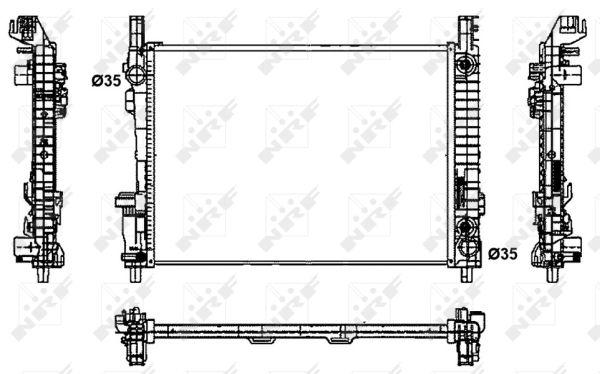Radiateur de refroidissement NRF 53800 (X1)