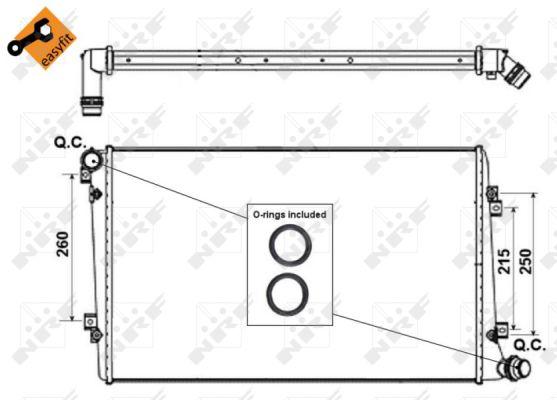 Radiateur de refroidissement NRF 53813 (X1)
