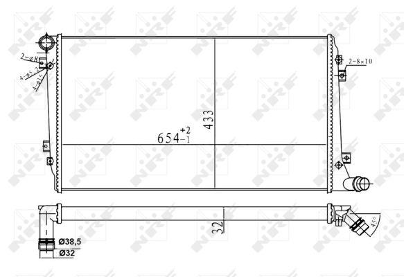 Radiateur de refroidissement NRF 53814A (X1)