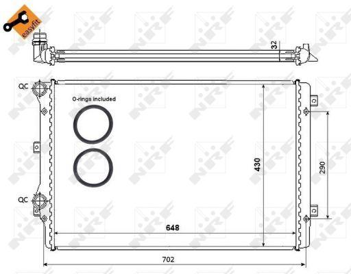 Radiateur de refroidissement NRF 53816 (X1)